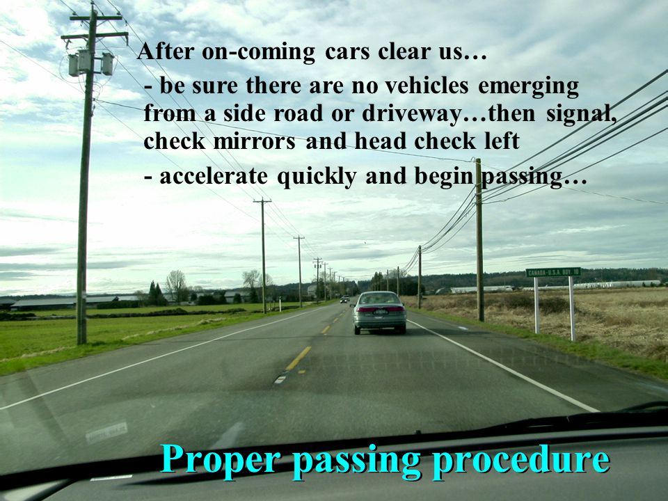 Proper passing procedure