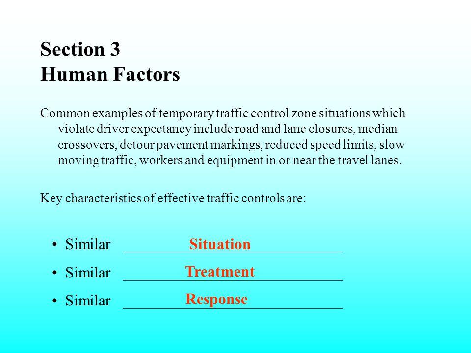 Section 3 Human Factors Similar ____________________________ Situation