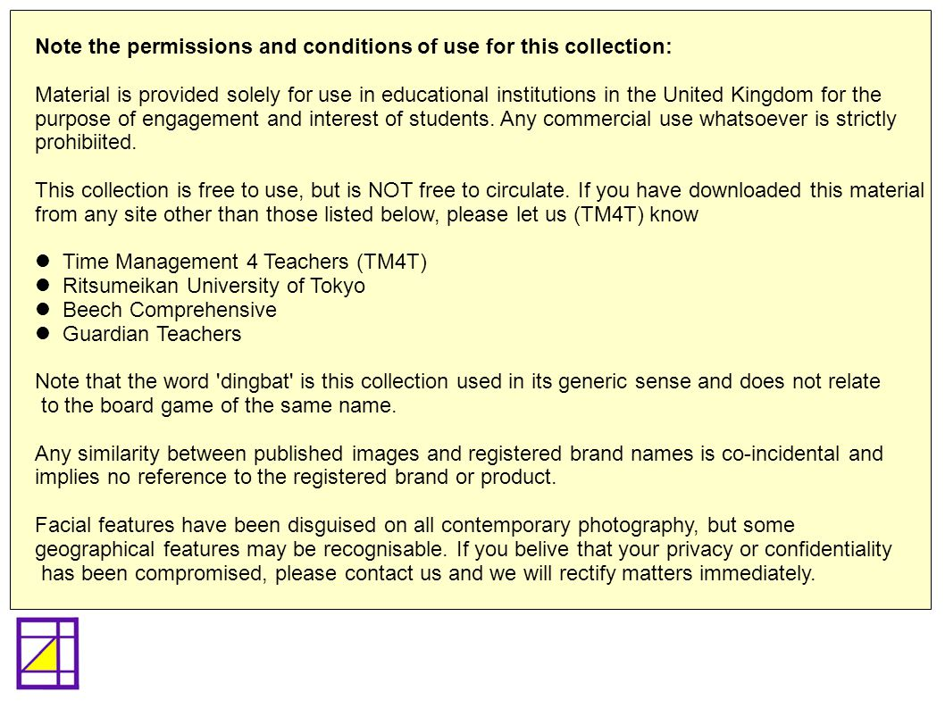 Note the permissions and conditions of use for this collection: