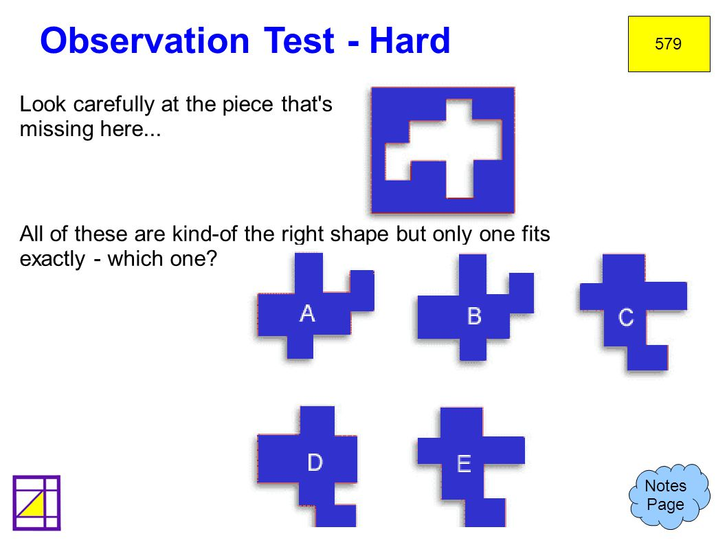 Observation Test - Hard