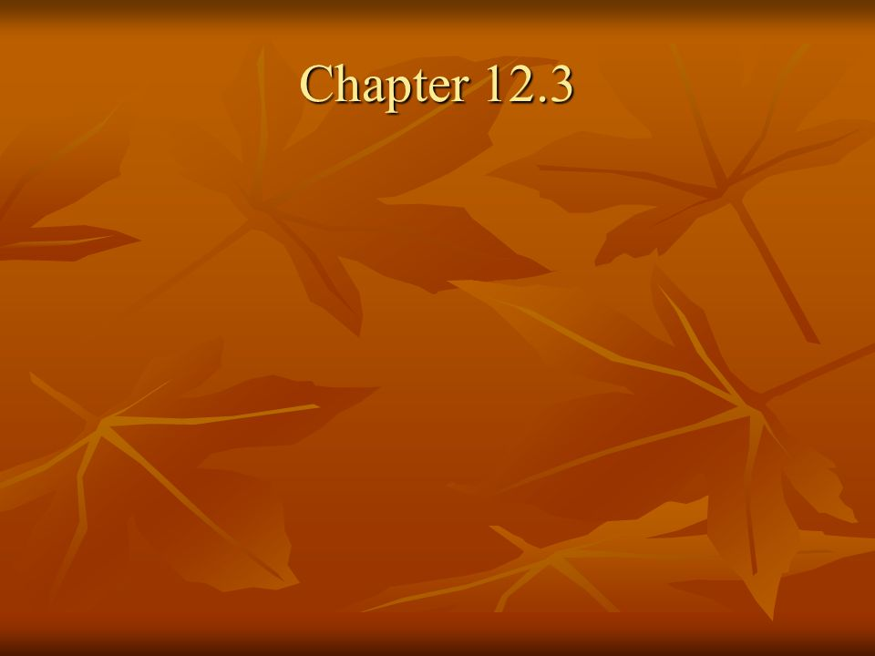 Chapter 12.3