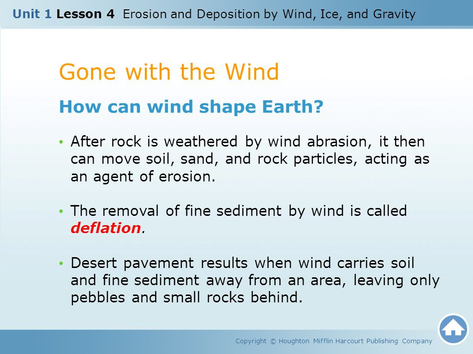 Gone with the Wind How can wind shape Earth