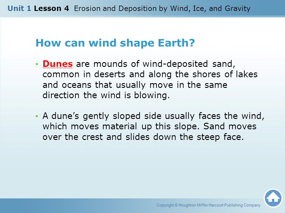 How can wind shape Earth