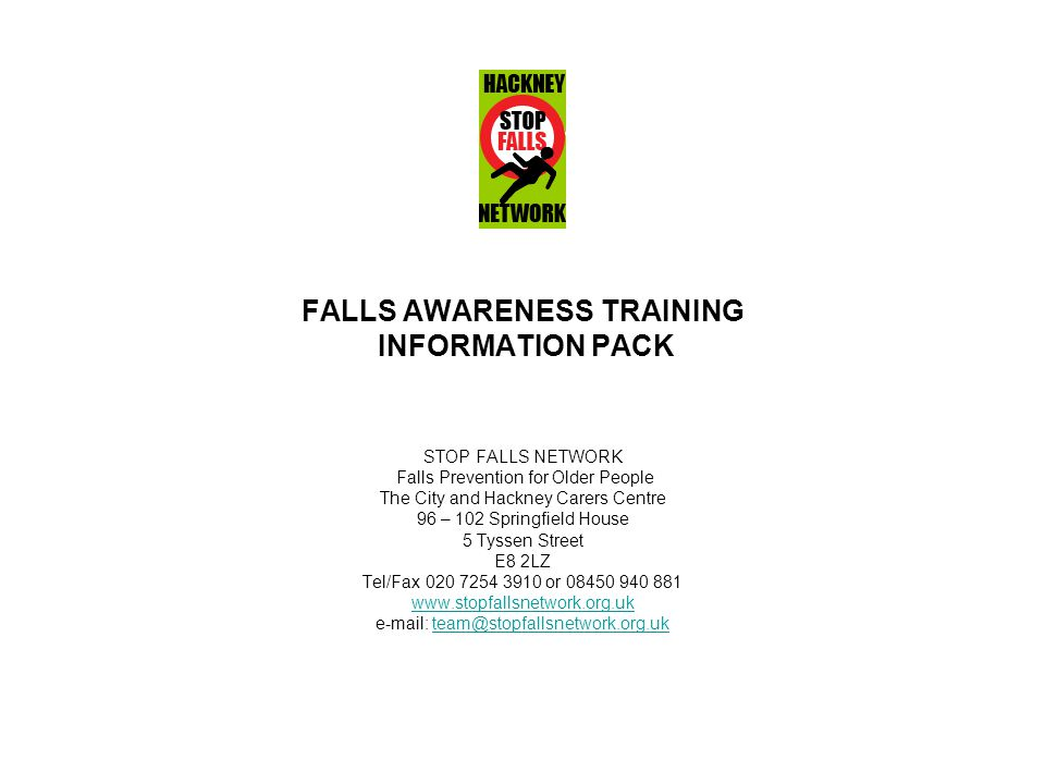 FALLS AWARENESS TRAINING INFORMATION PACK