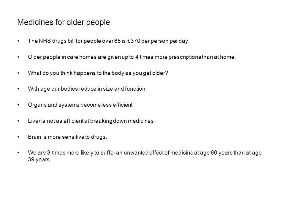 Medicines for older people