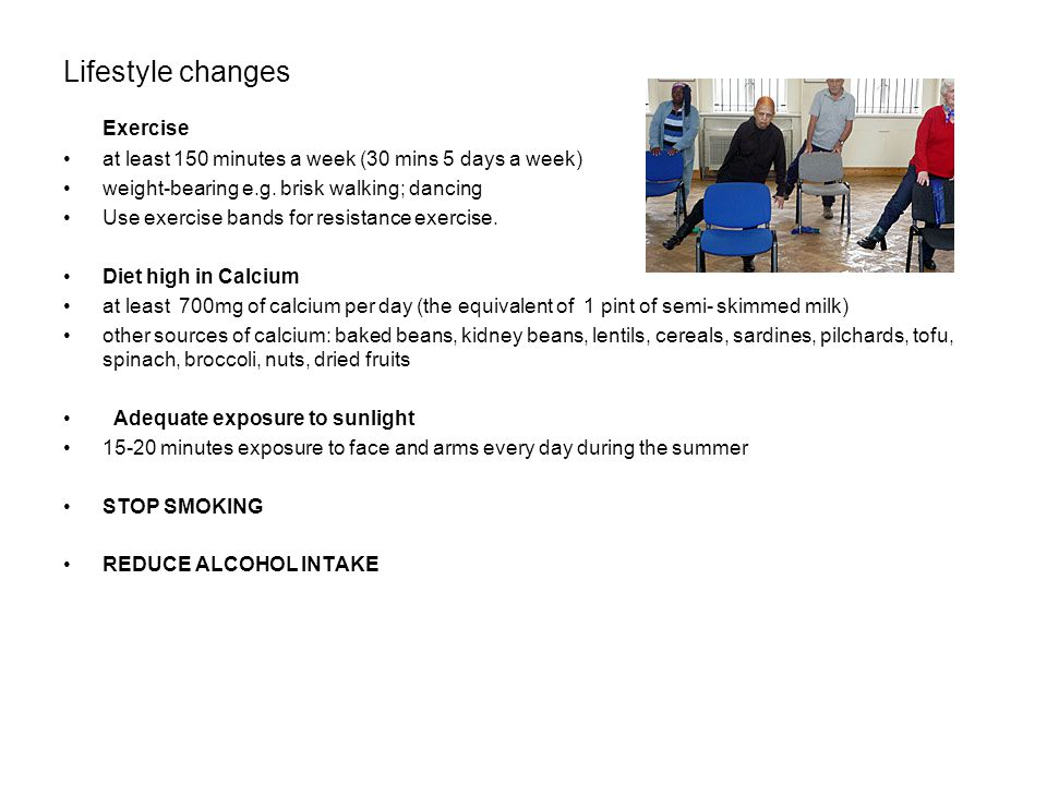 Lifestyle changes Exercise