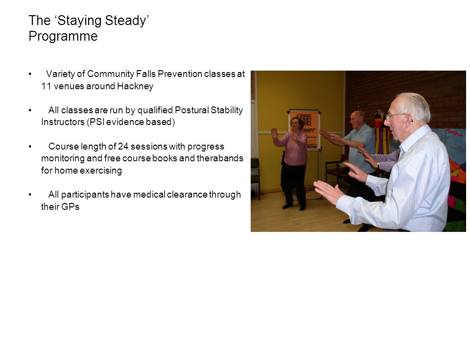The 'Staying Steady' Programme