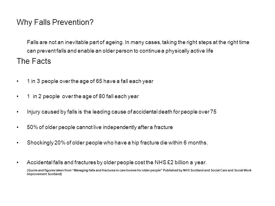 Why Falls Prevention The Facts