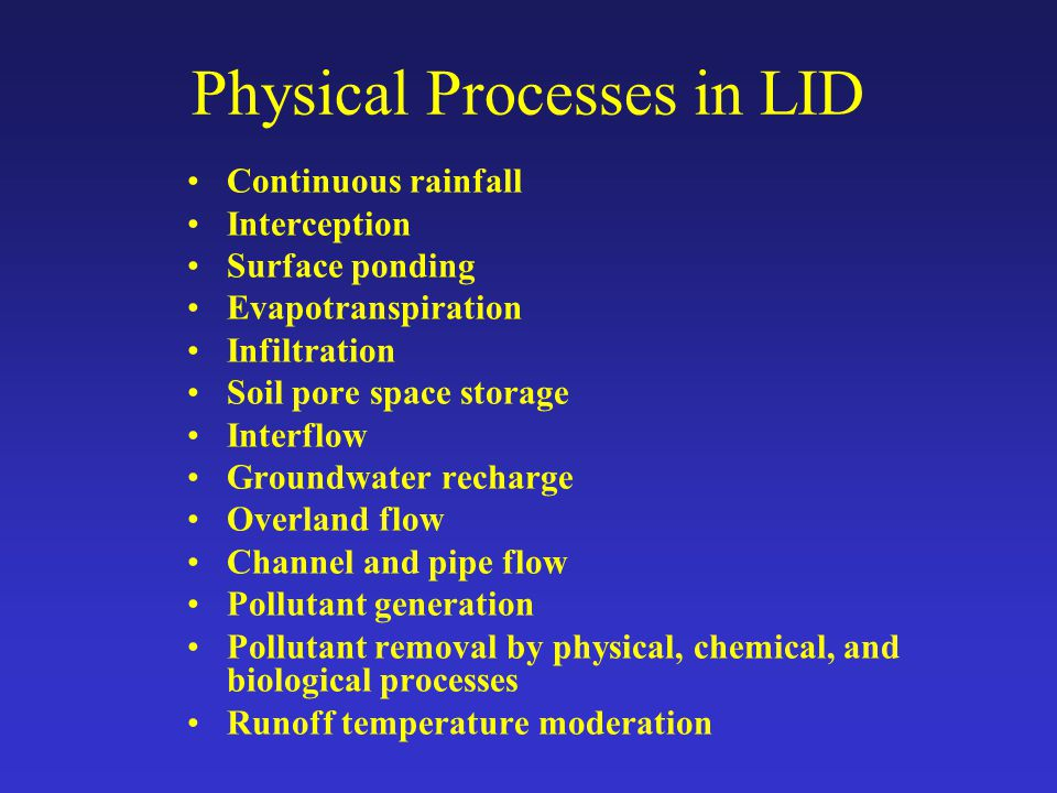 Physical Processes in LID