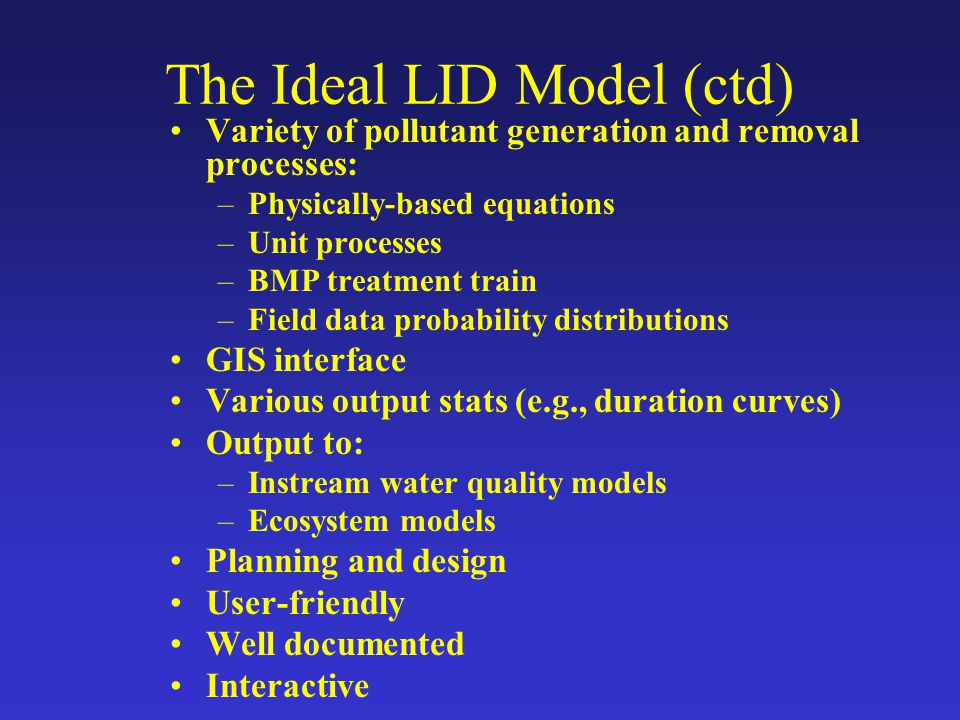 The Ideal LID Model (ctd)