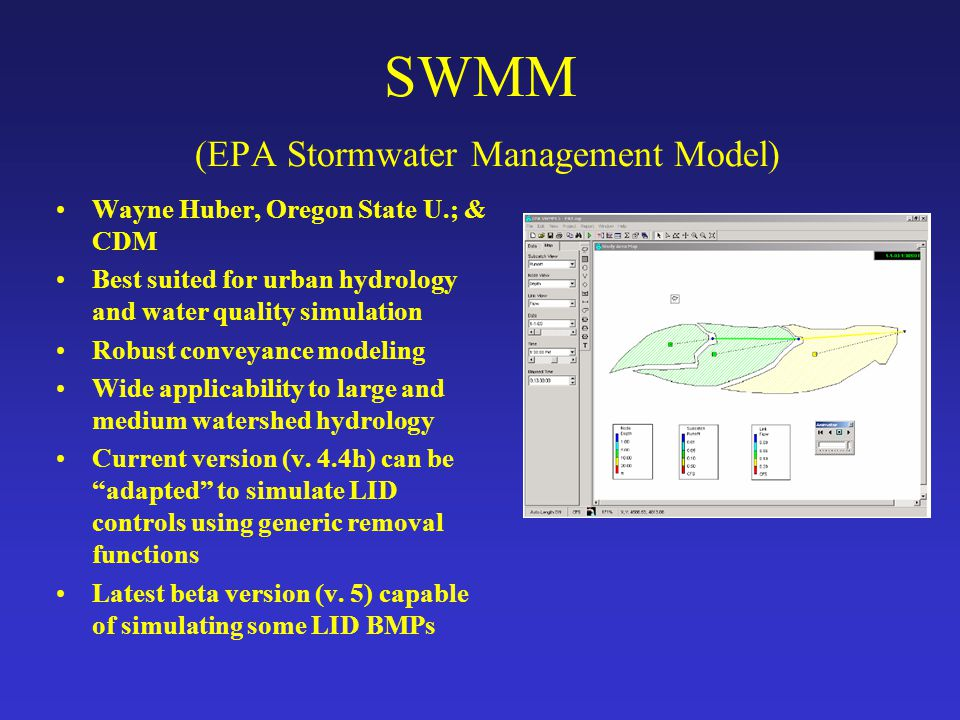 SWMM (EPA Stormwater Management Model)