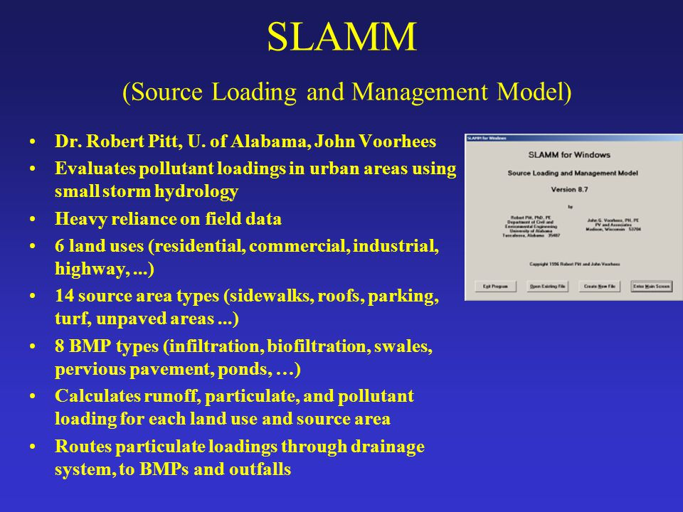 SLAMM (Source Loading and Management Model)