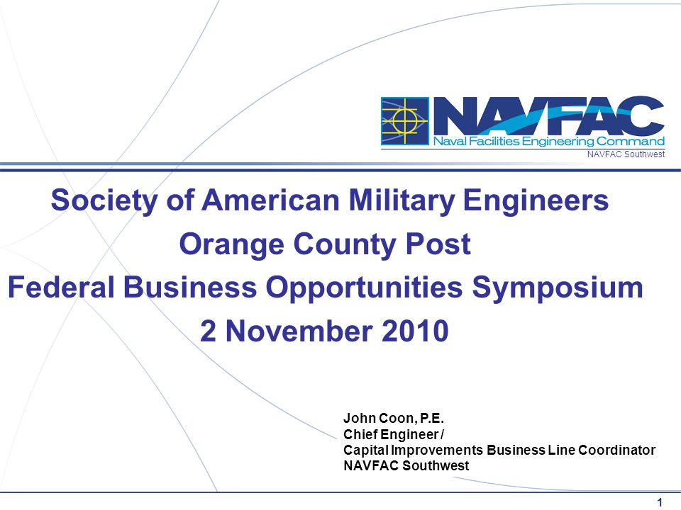 Society of American Military Engineers Orange County Post