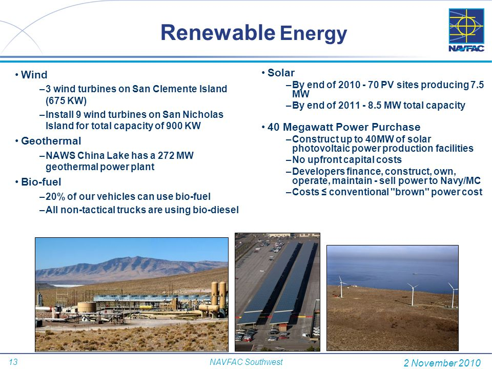 Renewable Energy Wind Solar 40 Megawatt Power Purchase Geothermal
