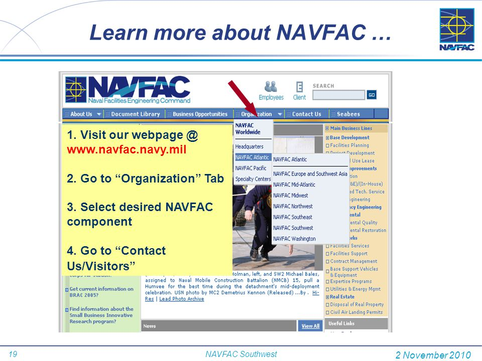 Learn more about NAVFAC …