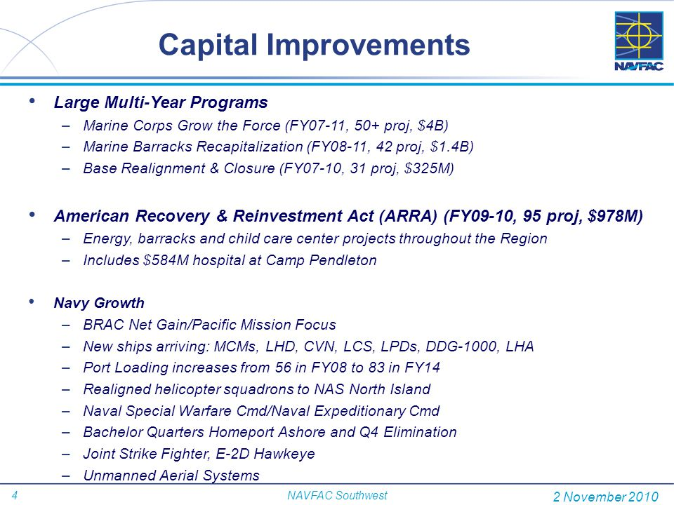 Capital Improvements Large Multi-Year Programs