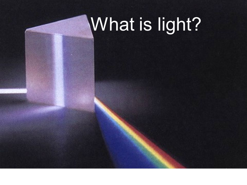 What is light Newton showed that white light is composed of all the colors of the rainbow.