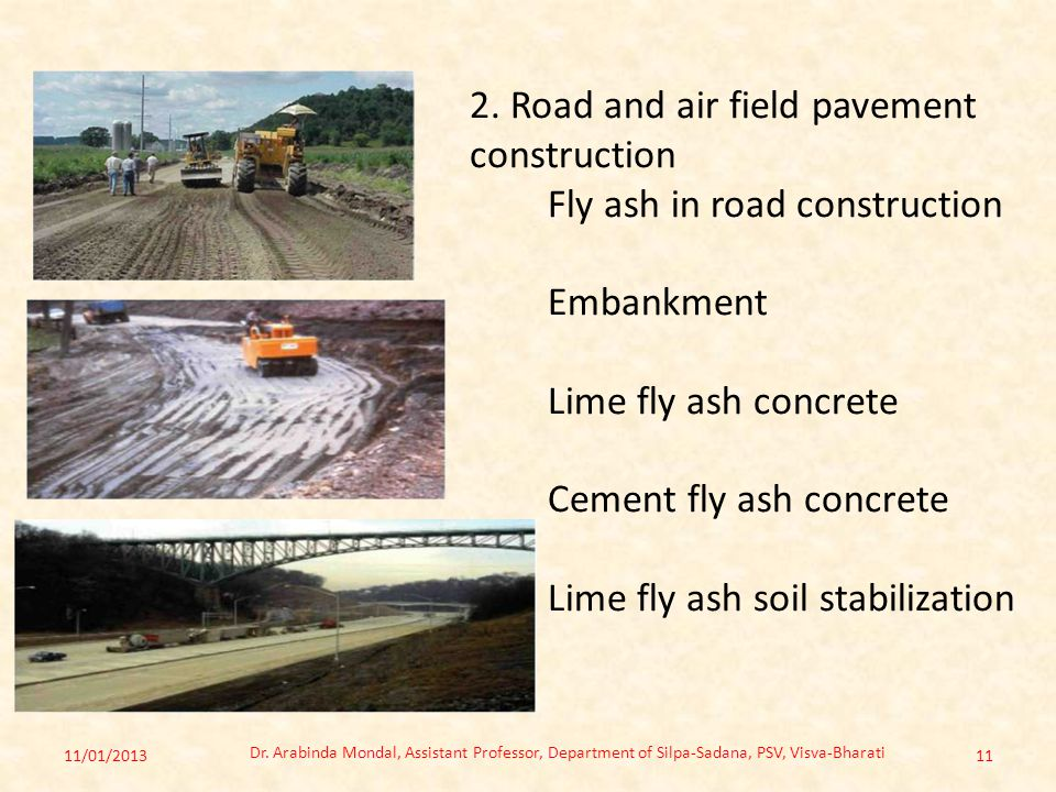 2. Road and air field pavement construction