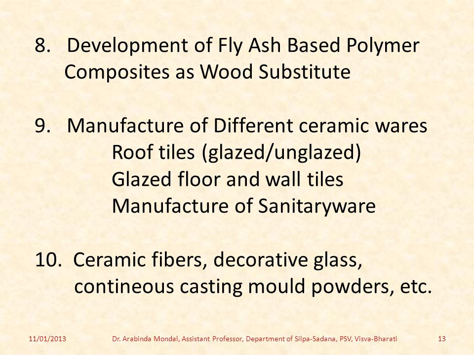 8. Development of Fly Ash Based Polymer