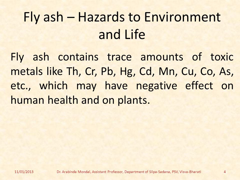 Fly ash – Hazards to Environment and Life