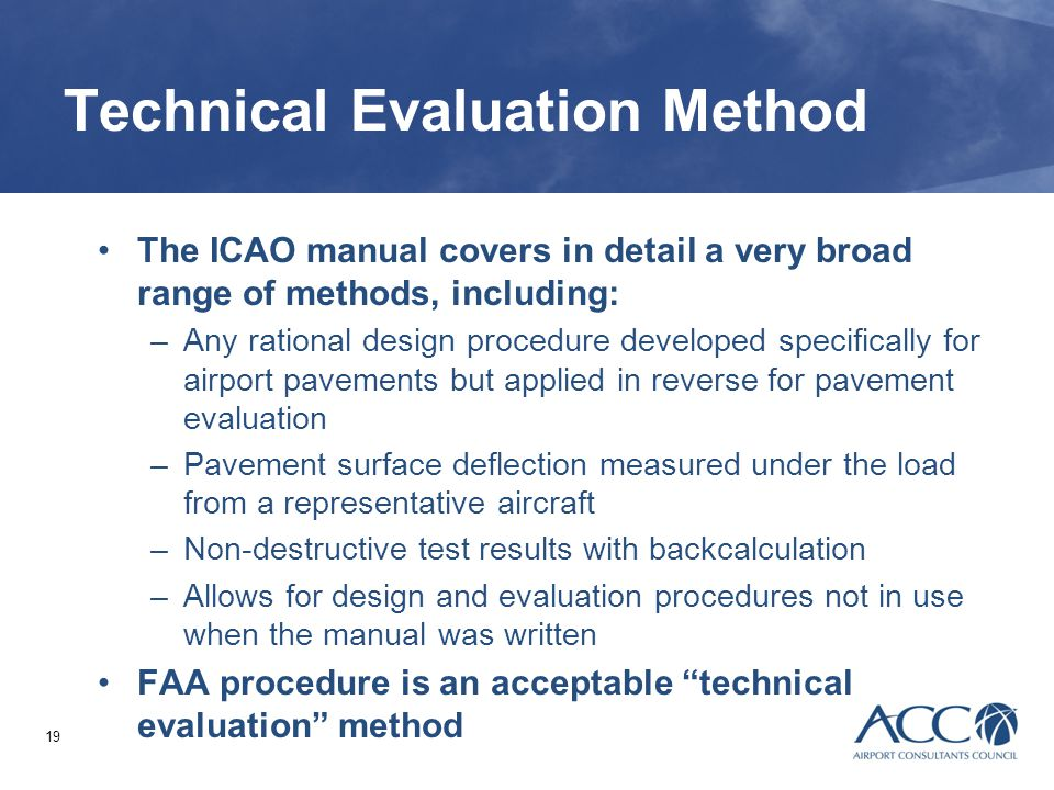 Technical Evaluation Method