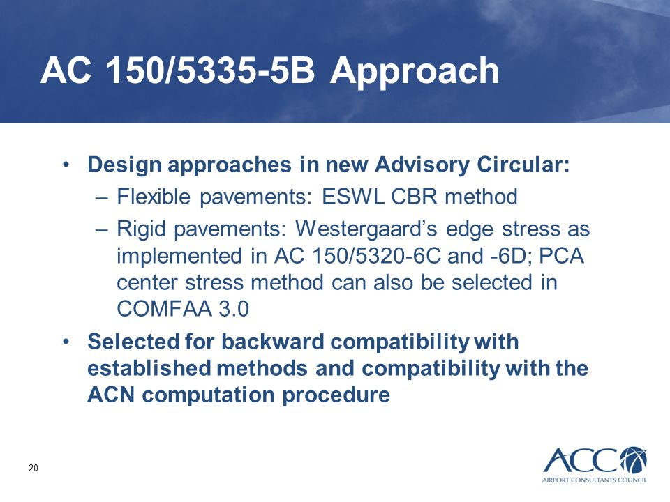 AC 150/5335-5B Approach Design approaches in new Advisory Circular: