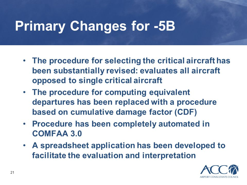 Primary Changes for -5B