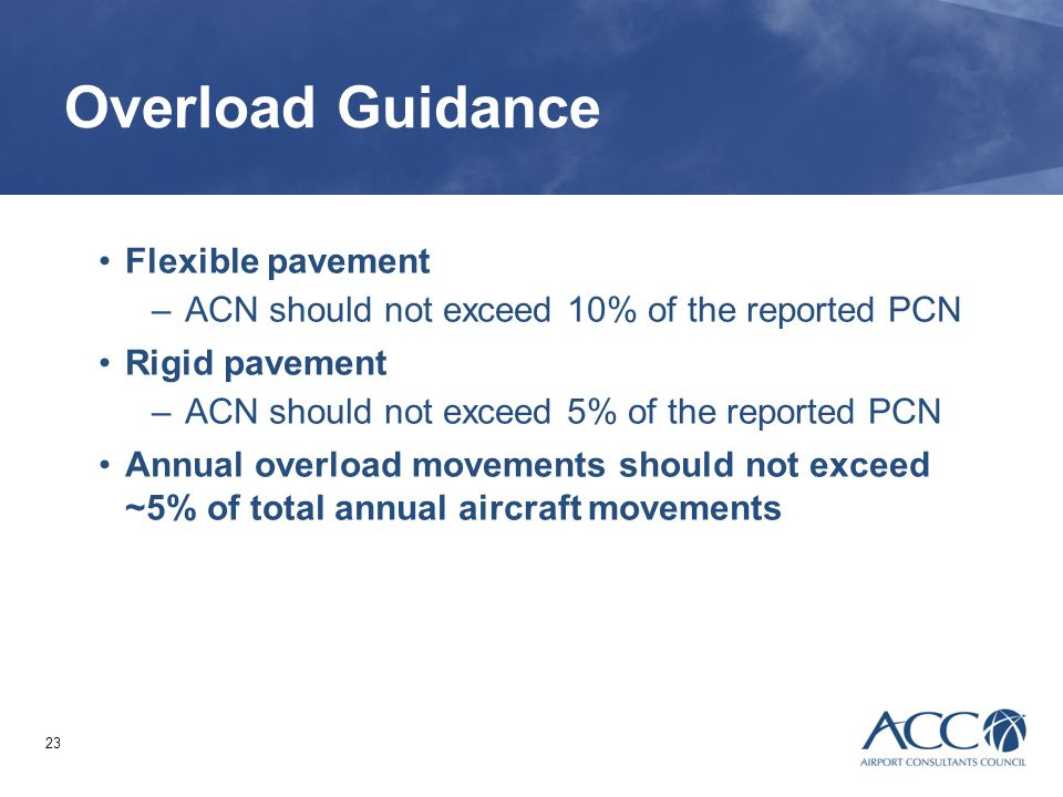 Overload Guidance Flexible pavement