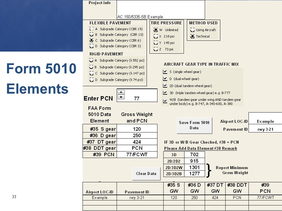 Form 5010 Elements