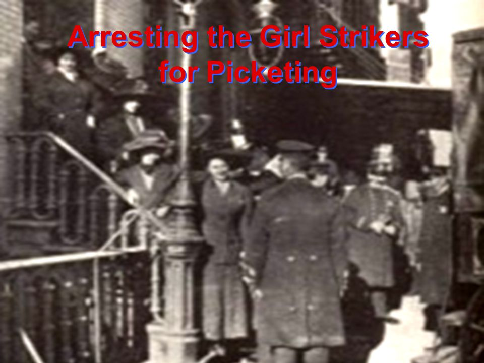 Arresting the Girl Strikers for Picketing