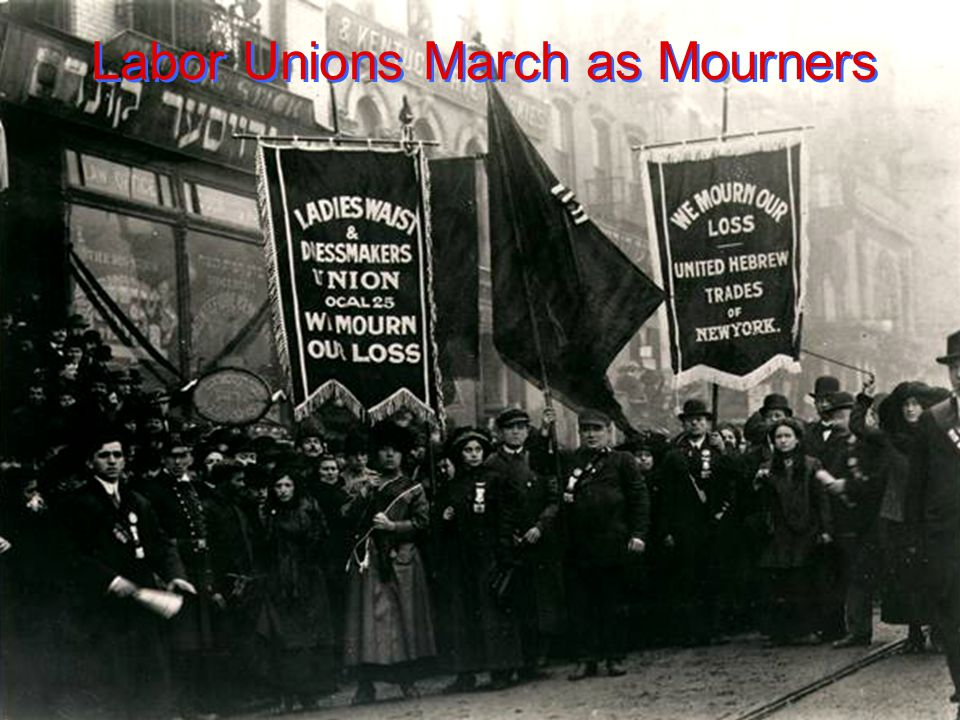 Labor Unions March as Mourners