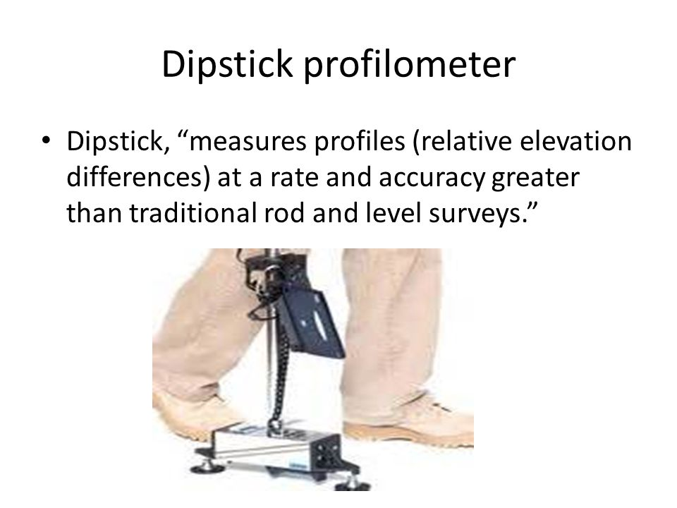 Dipstick profilometer