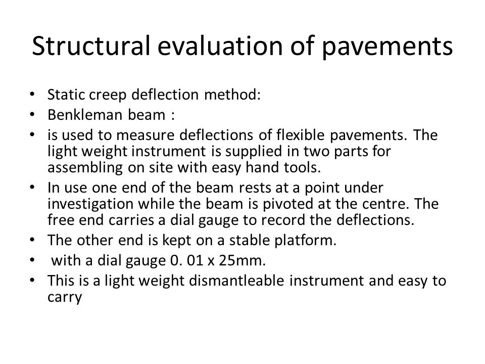 Structural evaluation of pavements