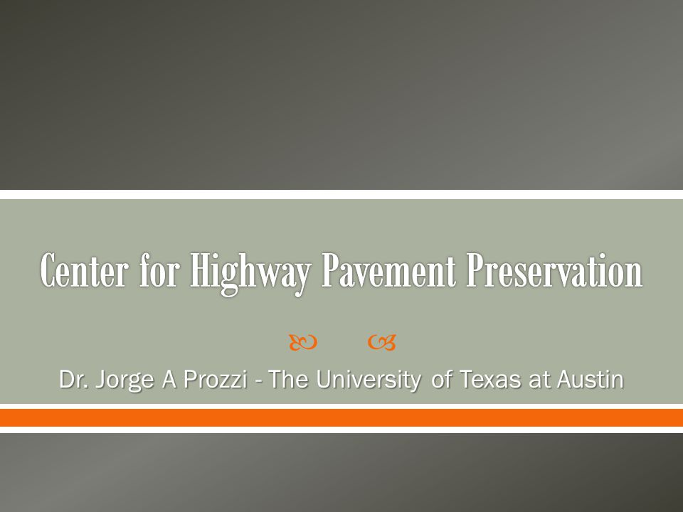 Center for Highway Pavement Preservation