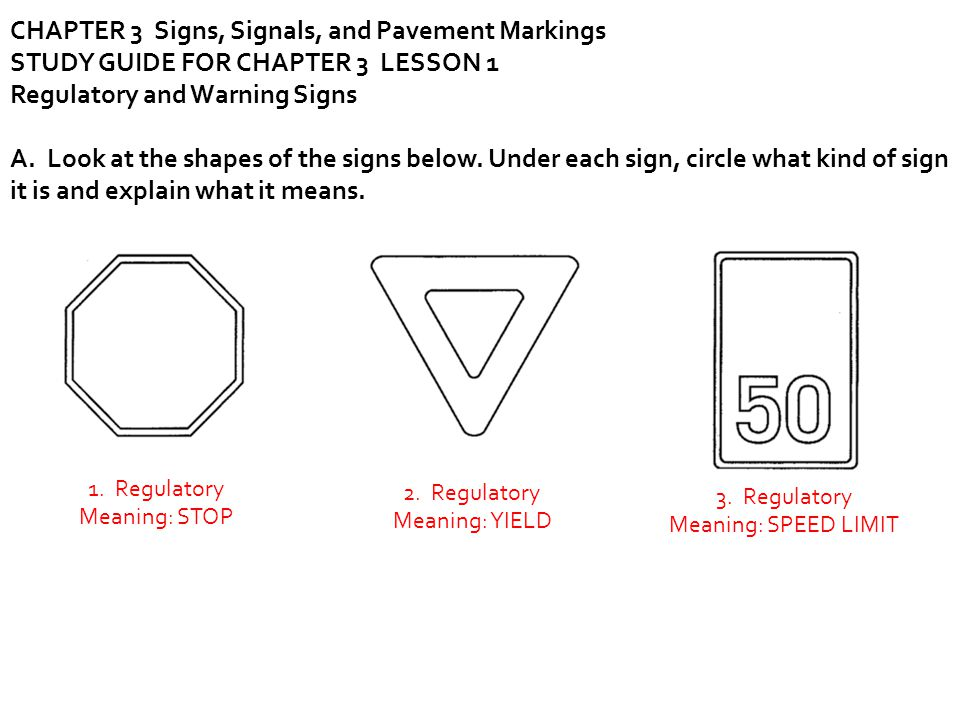 CHAPTER 3 Signs, Signals, and Pavement Markings