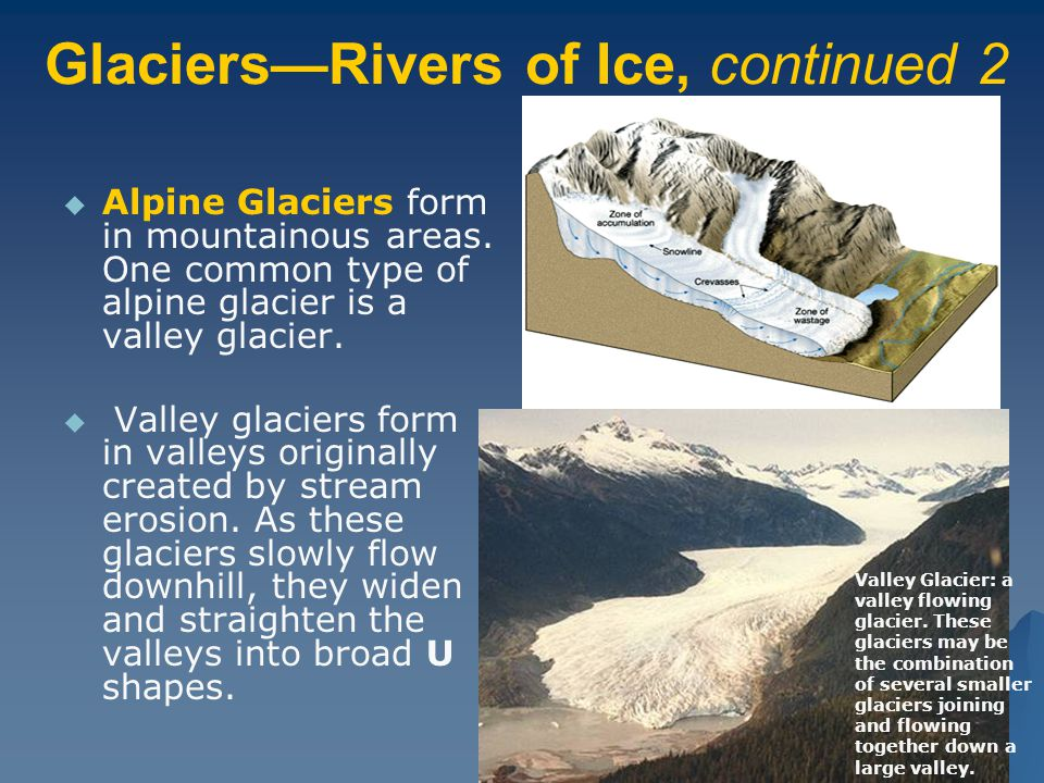 Glaciers—Rivers of Ice, continued 2