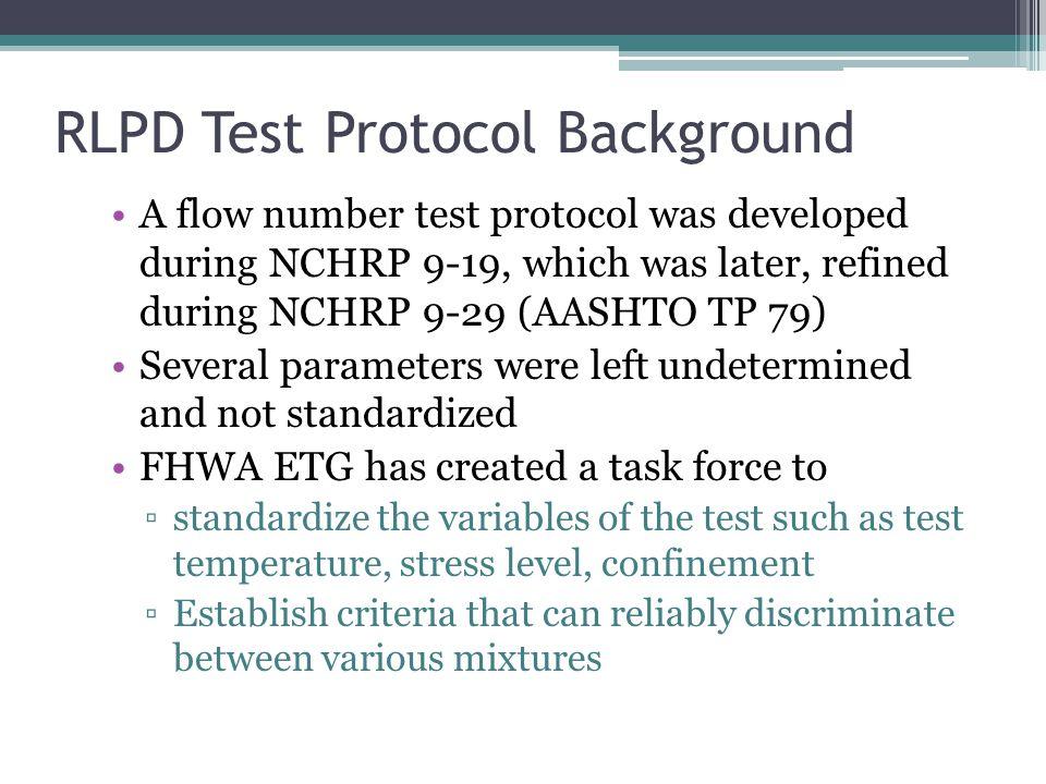 RLPD Test Protocol Background