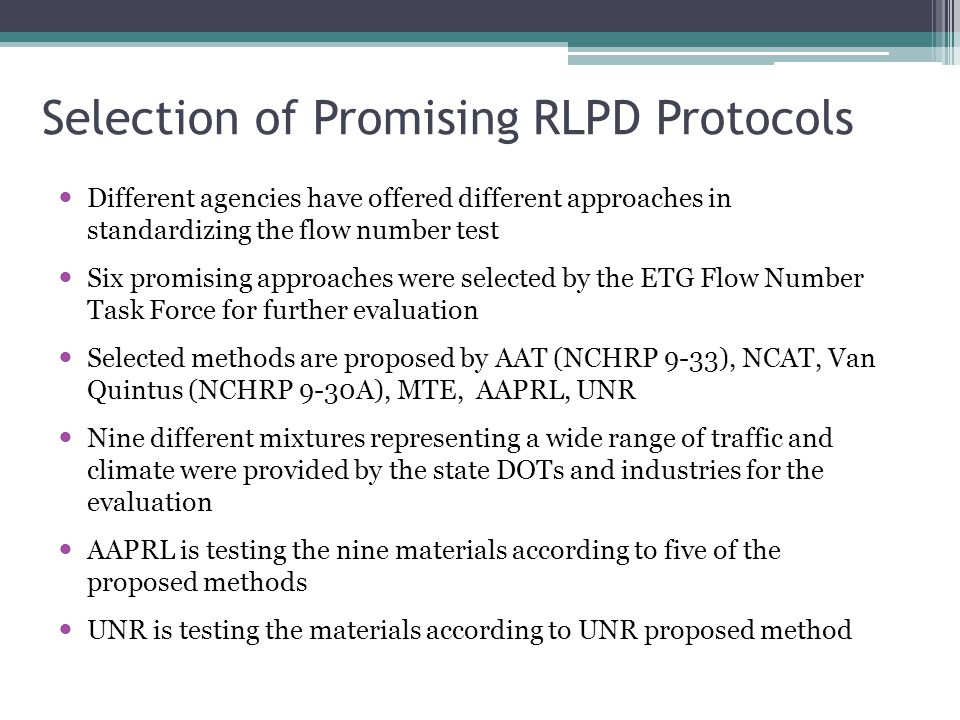 Selection of Promising RLPD Protocols