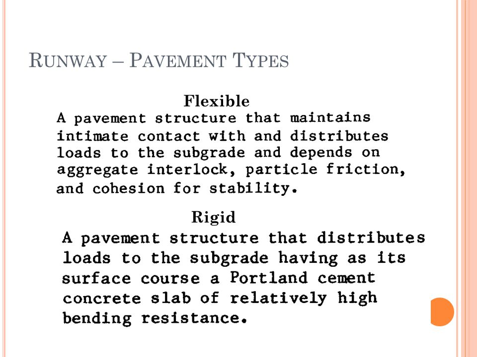 Runway – Pavement Types