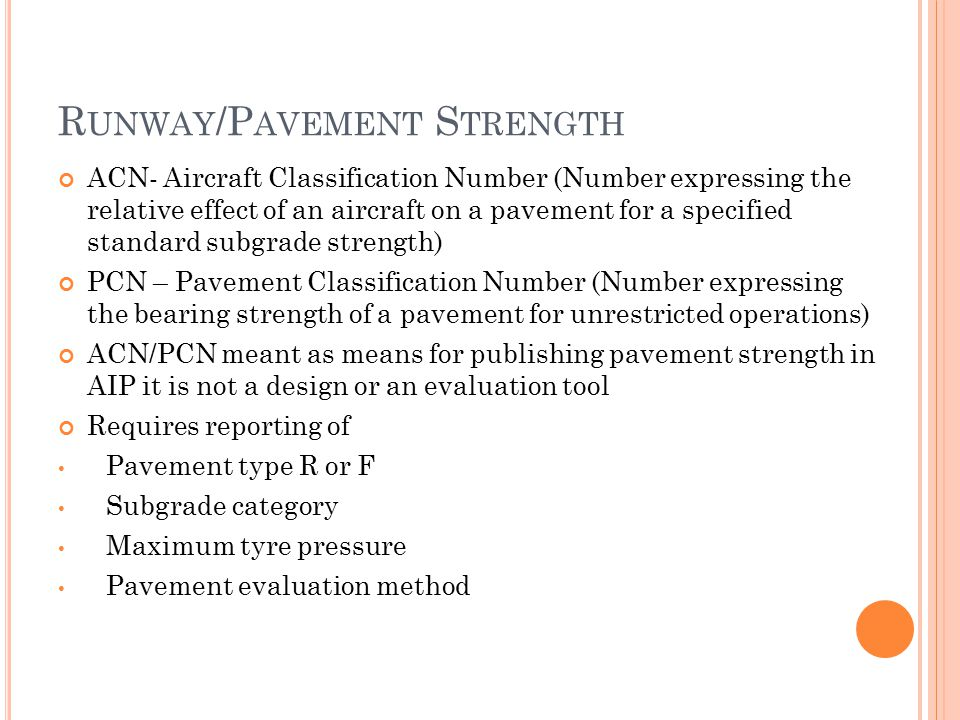 Runway/Pavement Strength