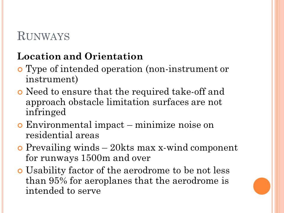 Runways Location and Orientation