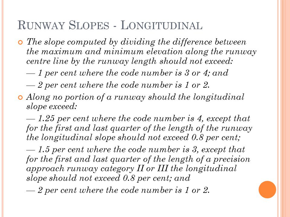 Runway Slopes - Longitudinal