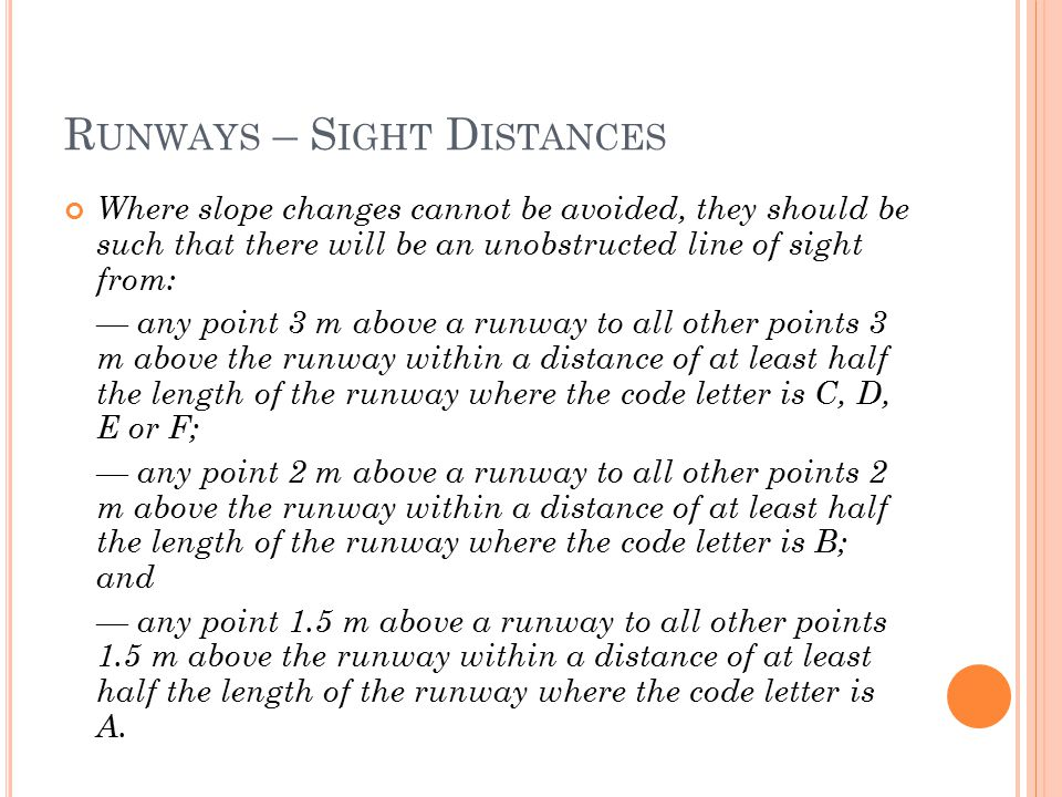 Runways – Sight Distances