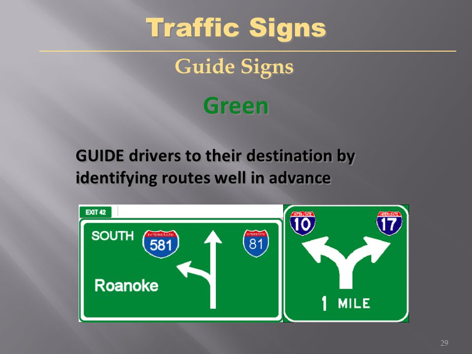 Traffic Controls Lesson 1 Understanding Traffic Signs and ...