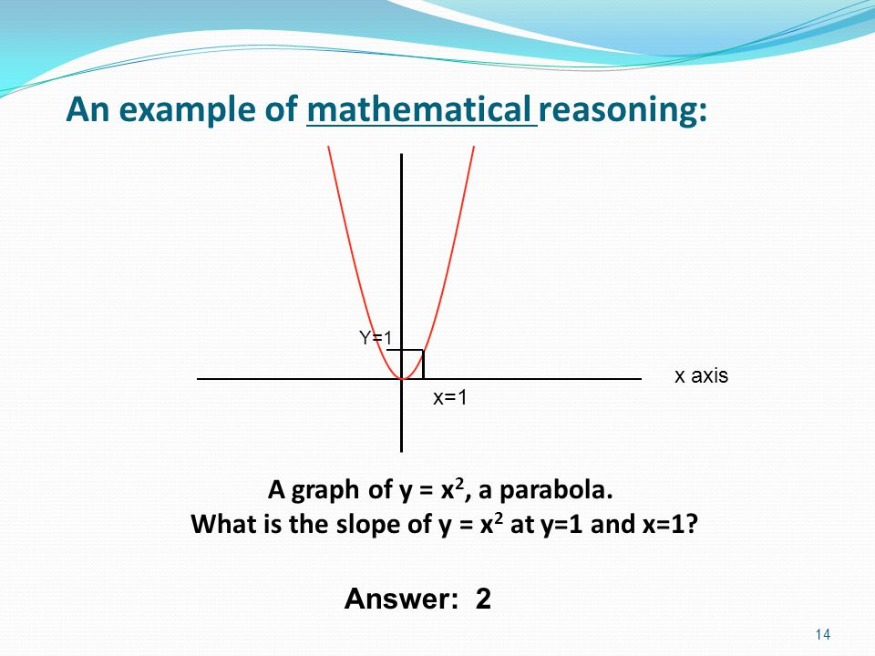An example of mathematical reasoning: