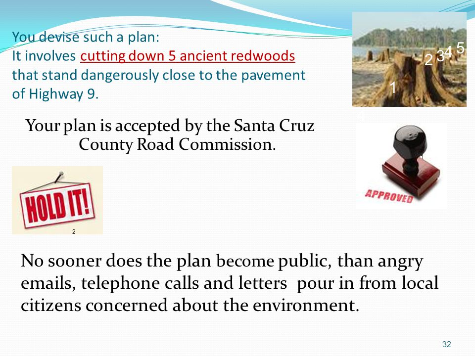 Your plan is accepted by the Santa Cruz County Road Commission.
