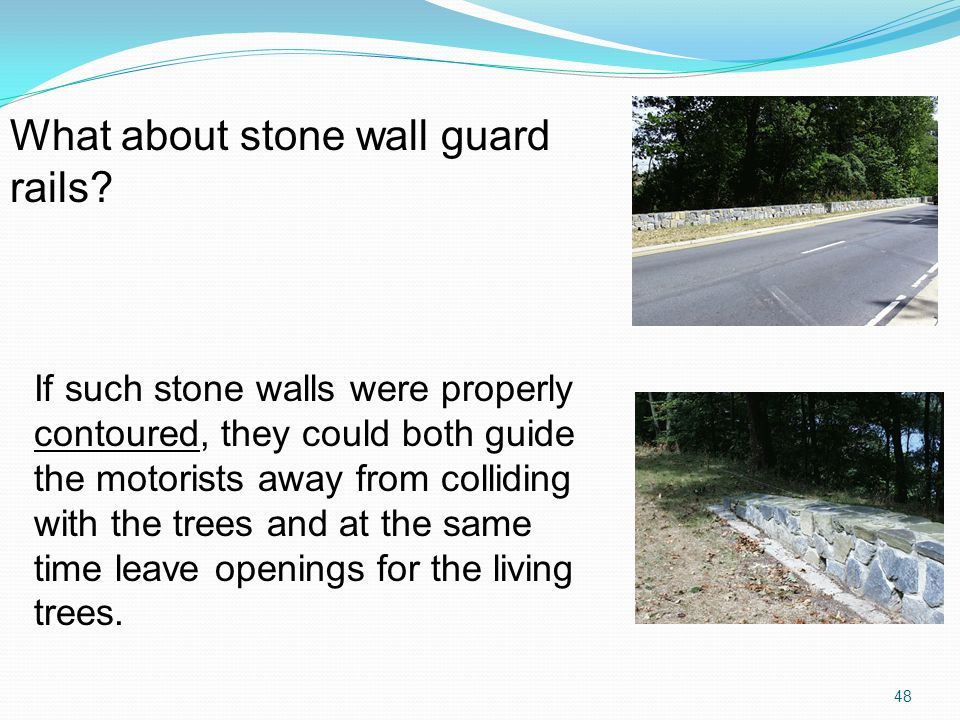 What about stone wall guard rails