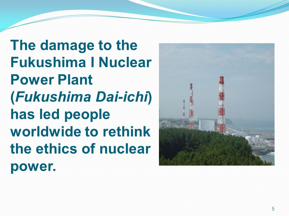 The damage to the Fukushima I Nuclear Power Plant (Fukushima Dai-ichi)