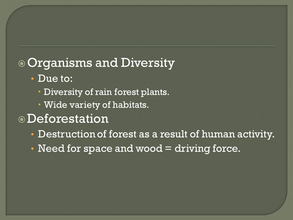 Organisms and Diversity