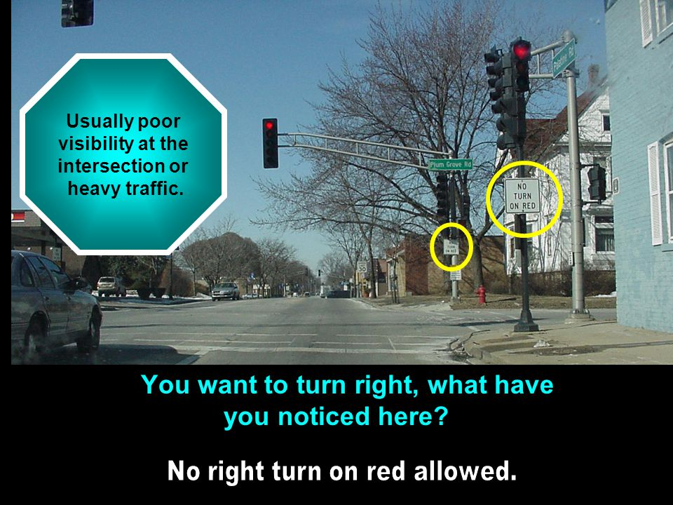 You want to turn right, what have